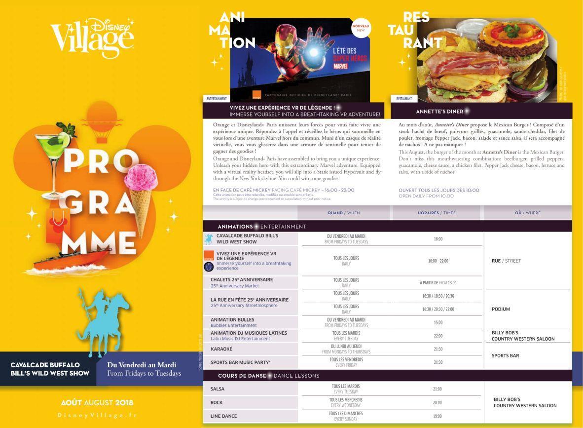 Programm Disney Village 08_2018_1